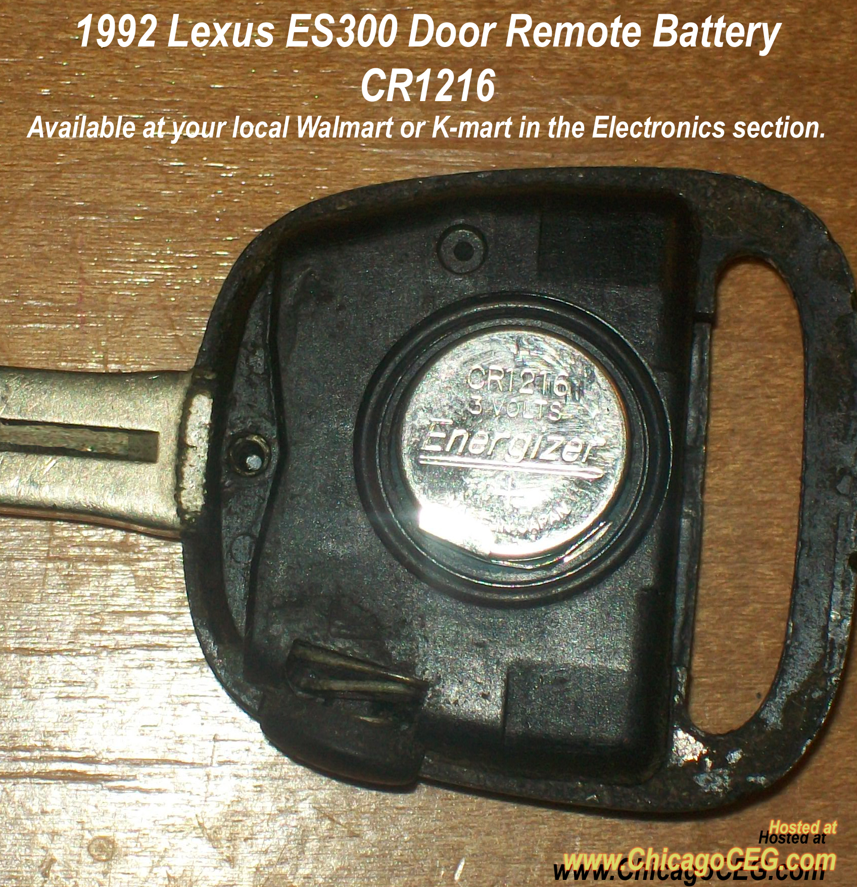 what kind of battery does a lexus key take